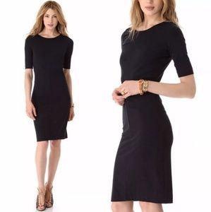 Diane von Furstenberg Black Sheath Dress - S